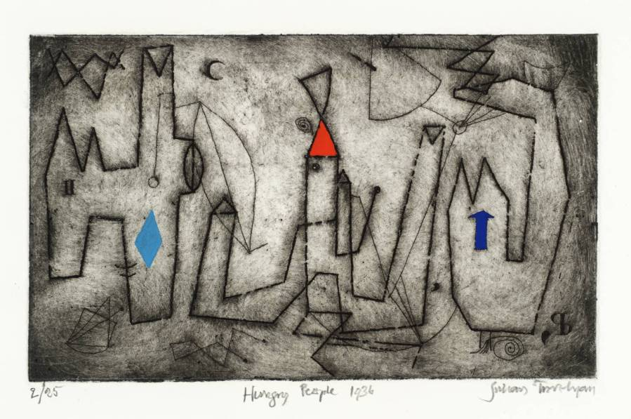 Hungry People 1936-72 by Julian Trevelyan 1910-1988