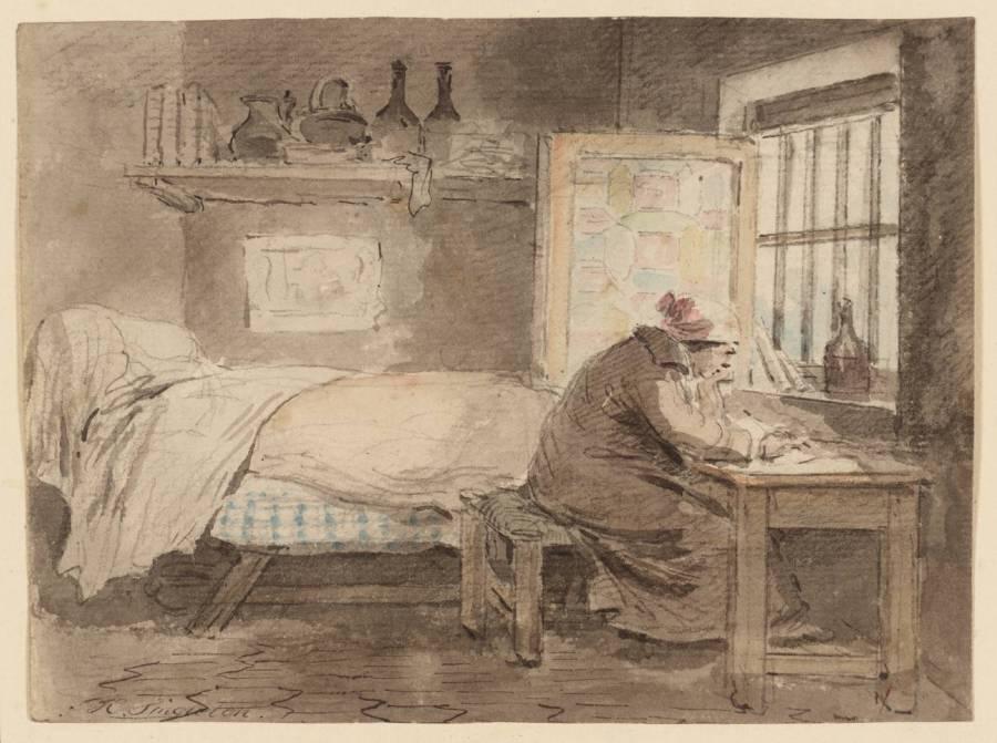 The Poet null by Henry Singleton 1766-1839