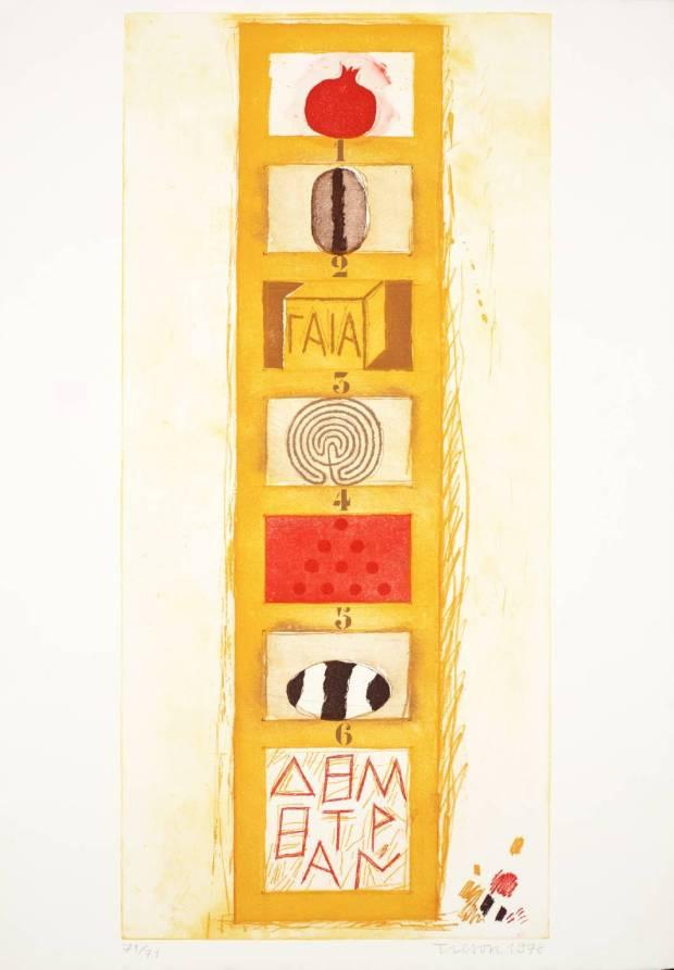 Demetrius' Ladder 1978 by Joe Tilson born 1928