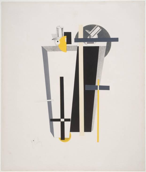 9. Gravediggers 1923 by El Lissitzky 1890-1941