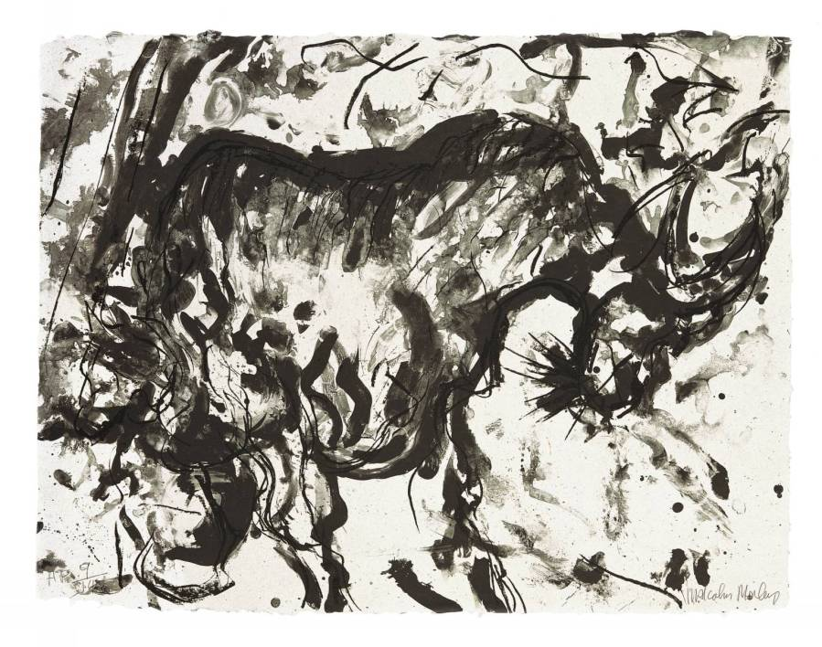 Goat 1982 by Malcolm Morley born 1931