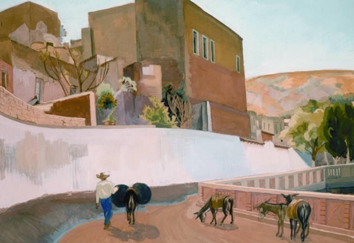 Calle de Guanajuato, gouache sobre papel, 1950. Museo Mural Diego Rivera