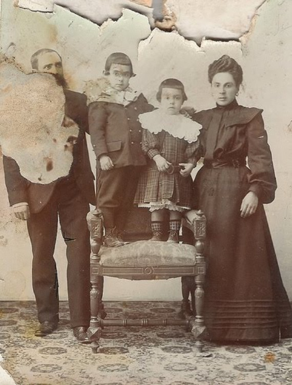Foto antigua familiar