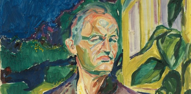 Munch_Self-portrait in Front of the House Wall_1926_cropped