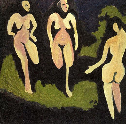 ernst kirchner-desnudo en un prado
