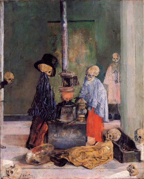 Skeletons Trying To Warm Themselves_James Ensor