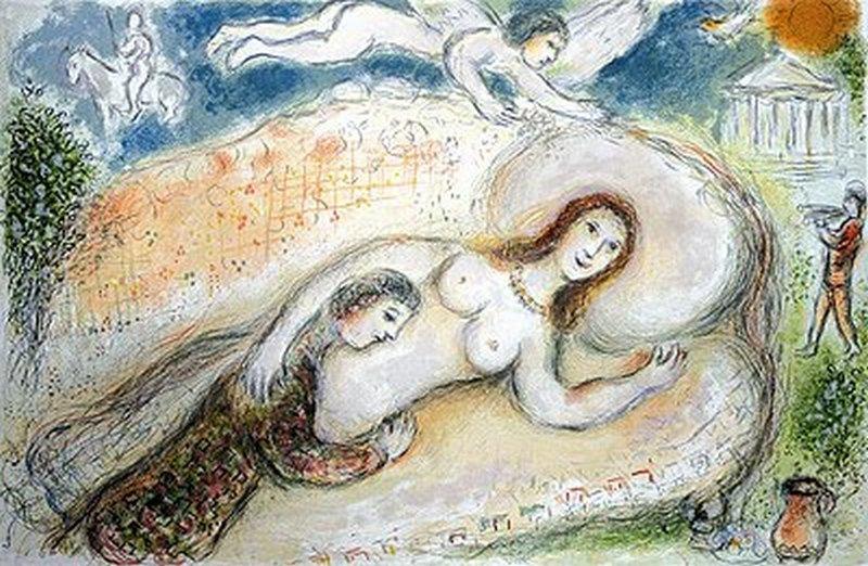 Ulises y Penélope en la cámara nupcial, marc chagall