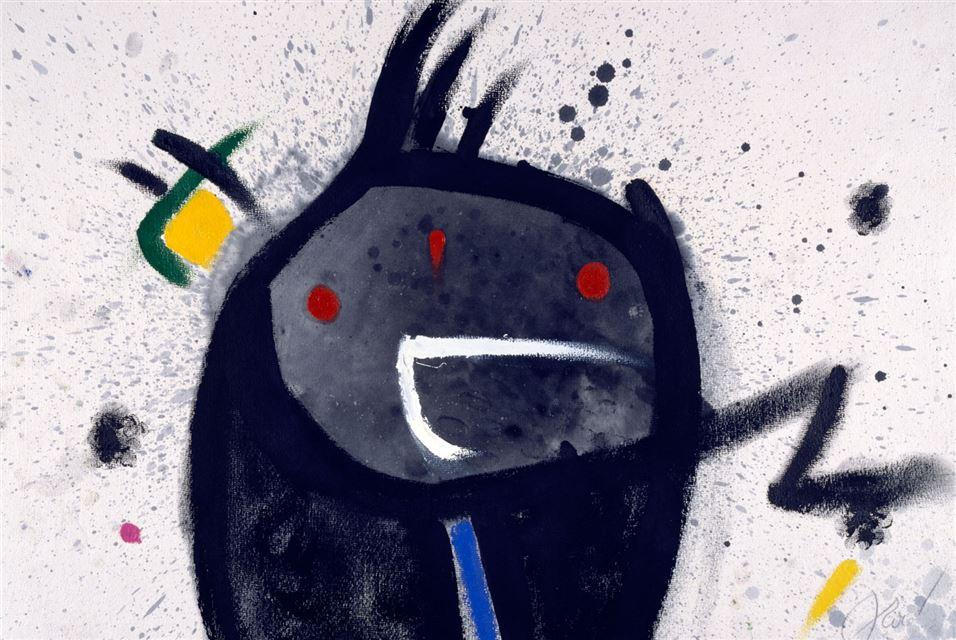 Joan Miró, Head, Bird, 1977
