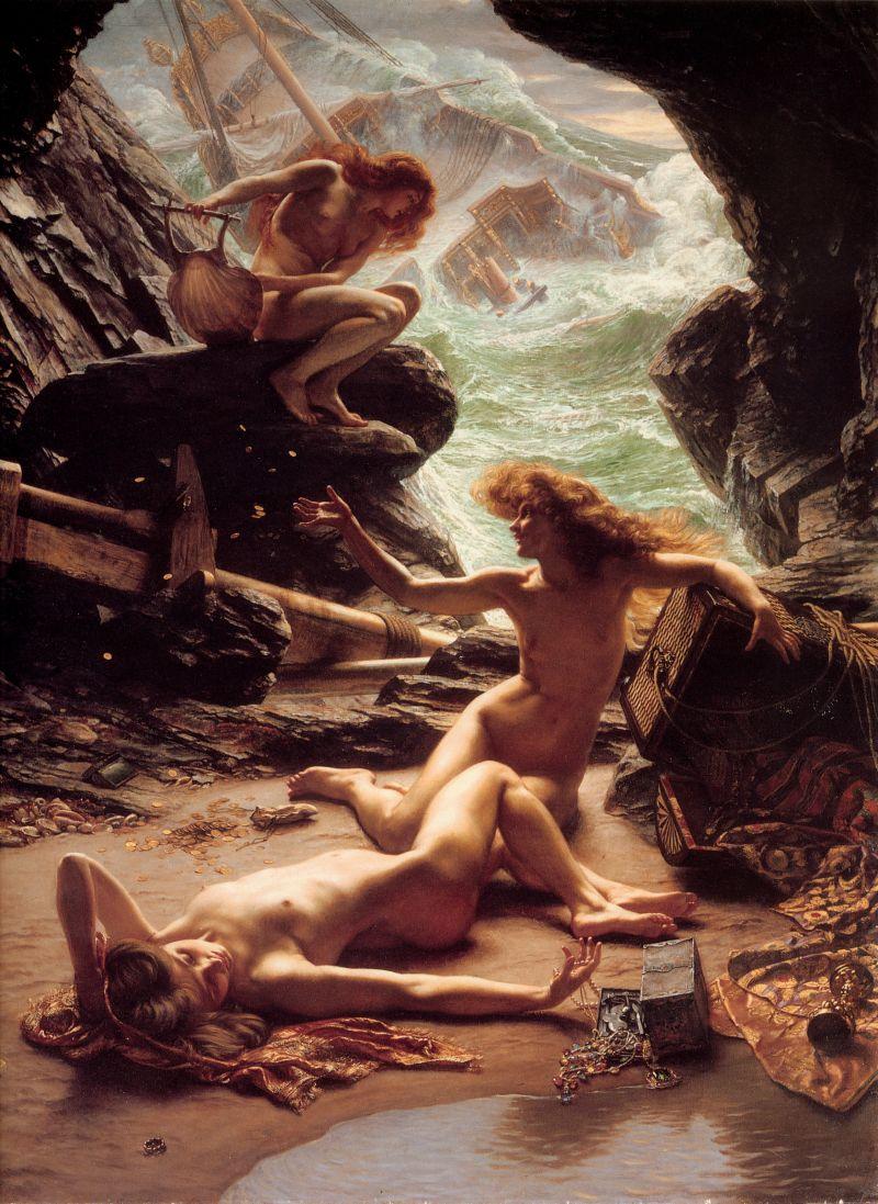 02-Cave of the Storm Nymphs (Cueva de las ninfas de la tormenta), óleo sobre lienzo, 145,9 x 110,4 cm., 1903. Colección privada.
