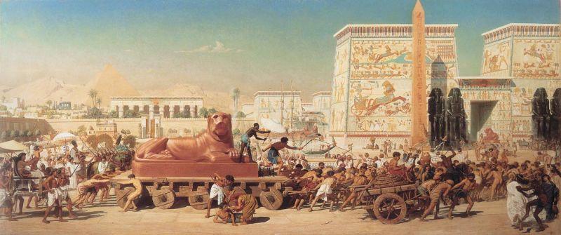 03a-Israel in Egypt (Israel en Egipto), óleo sobre lienzo, 317,5 x 137,16 cm., 1867