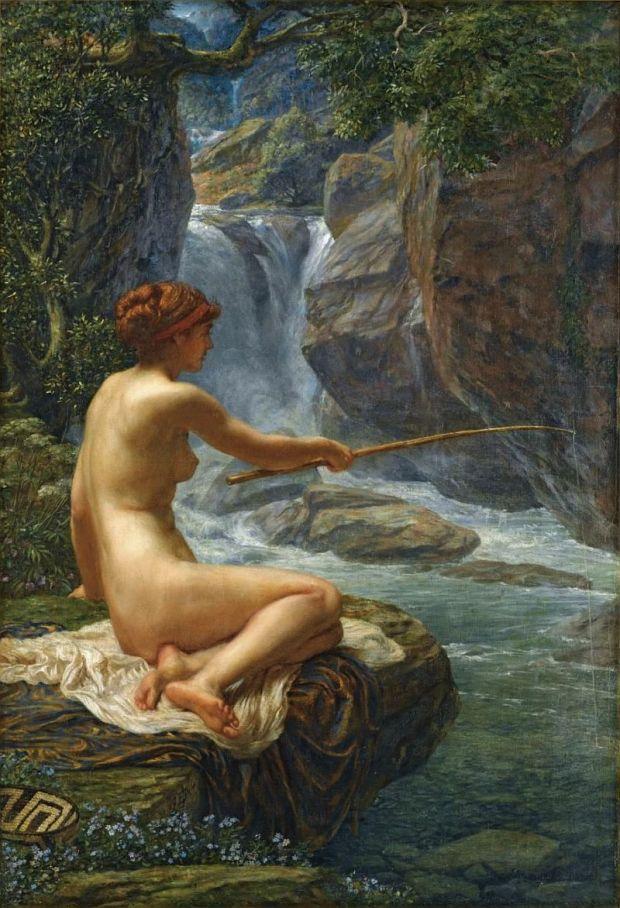 08-The Nymph of the Stream (La ninfa del arroyo), óleo sobre lienzo, 82 x 56 cm., Colección privada 2