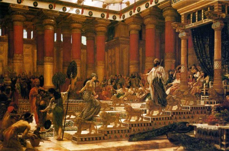 11-The Visit of the Queen of Sheba to King Solomon (La visita de la Reina de Saba al rey Salomón), óleo sobre lienzo, 1884-1890. Art Gallery of New South Wales (Sydney, Australia)