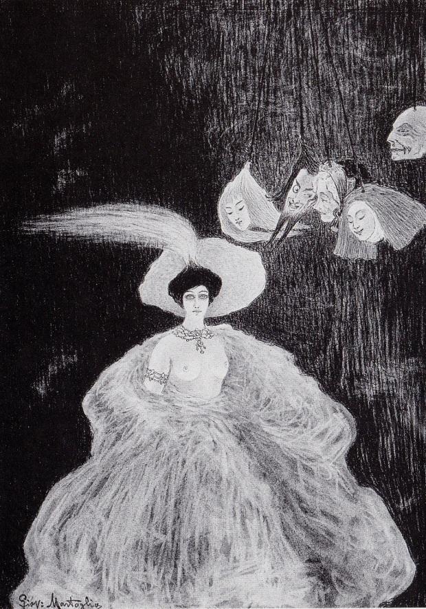 la-chimera-al-teatro-di-marionette-1908-carboncino-e-pastello
