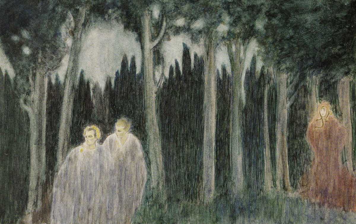 ombre-antiche-1909-acquarello-carboncino-e-pastello