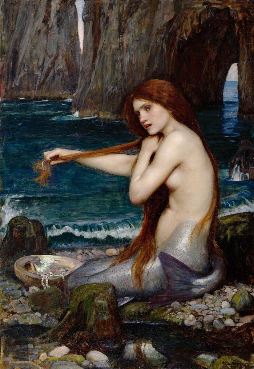 Waterhouse, John William; A Mermaid; Royal Academy of Arts; http://www.artuk.org/artworks/a-mermaid-149322