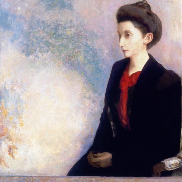 Pinturas-retrato-abstracto-de-la-lona-pintura-mural-impresiones-Retrato-de-La-Baronesa-Robert-de-Domecy