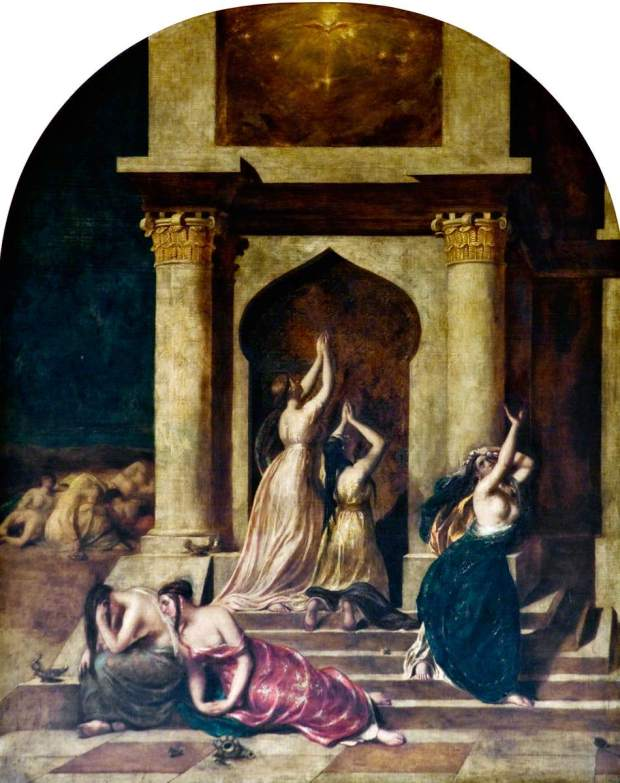 Etty, William; The Wise and Foolish Virgins; University of Dundee Fine Art Collections; http://www.artuk.org/artworks/the-wise-and-foolish-virgins-91130