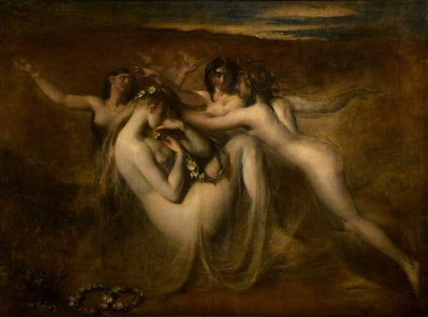 Etty, William; Sabrina and Her Nymphs; Leicester Arts and Museums Service; http://www.artuk.org/artworks/sabrina-and-her-nymphs-81095