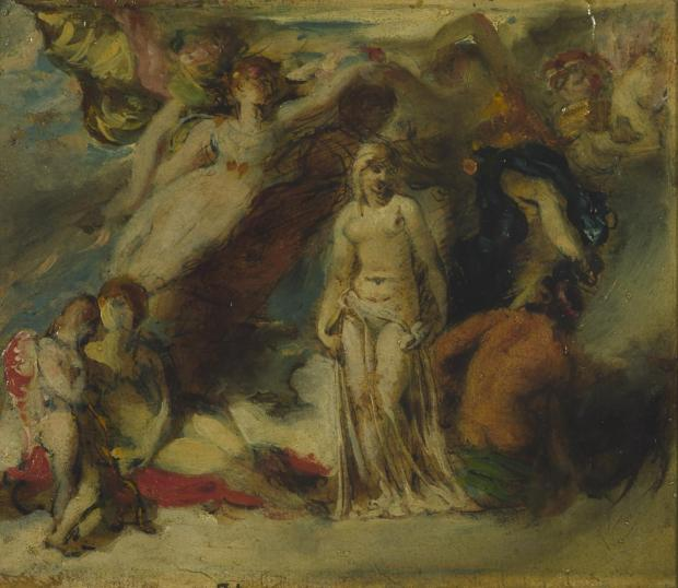 Study for 'Pandora Crowned by the Seasons' c.1824 William Etty 1787-1849 Bequeathed by Henry Vaughan 1900 http://www.tate.org.uk/art/work/N01795